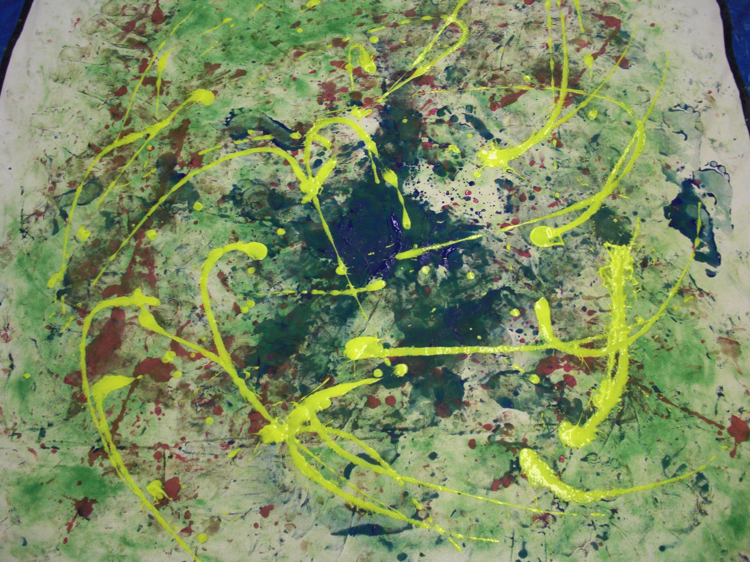 Dance #3, tempera on canvas, 5'x6', 2010