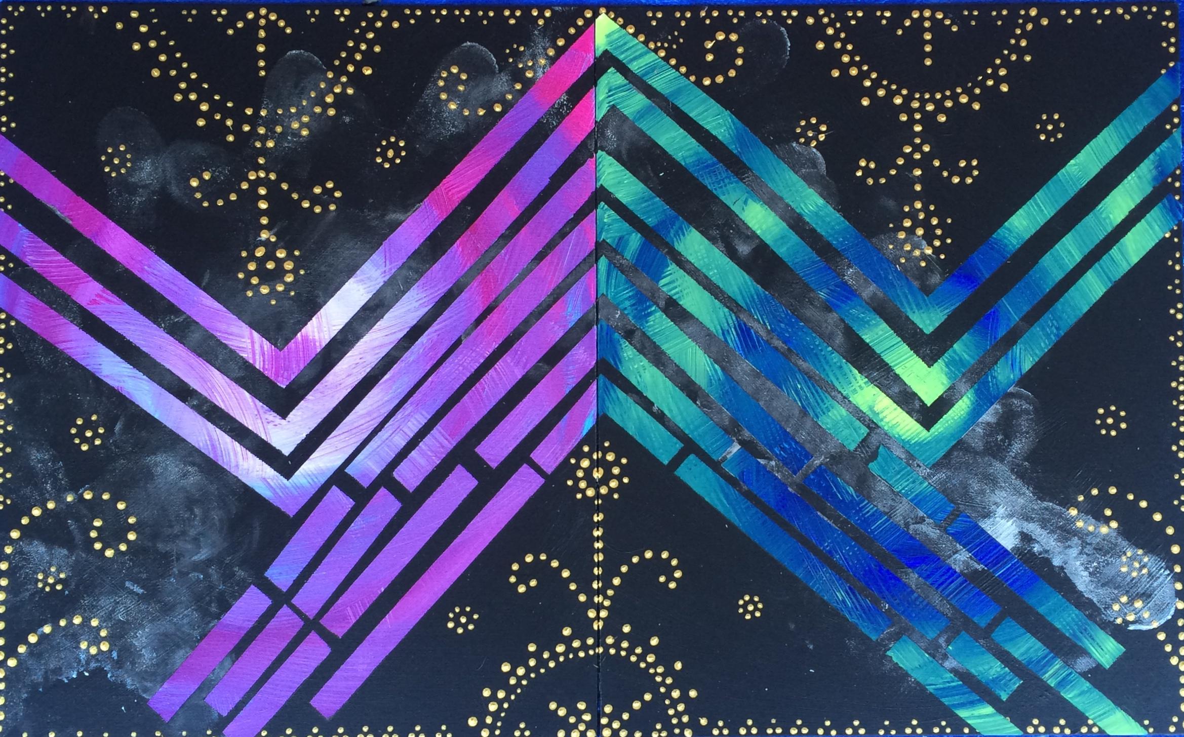 """""""60/60"""", acrylic on panels, 2015"""