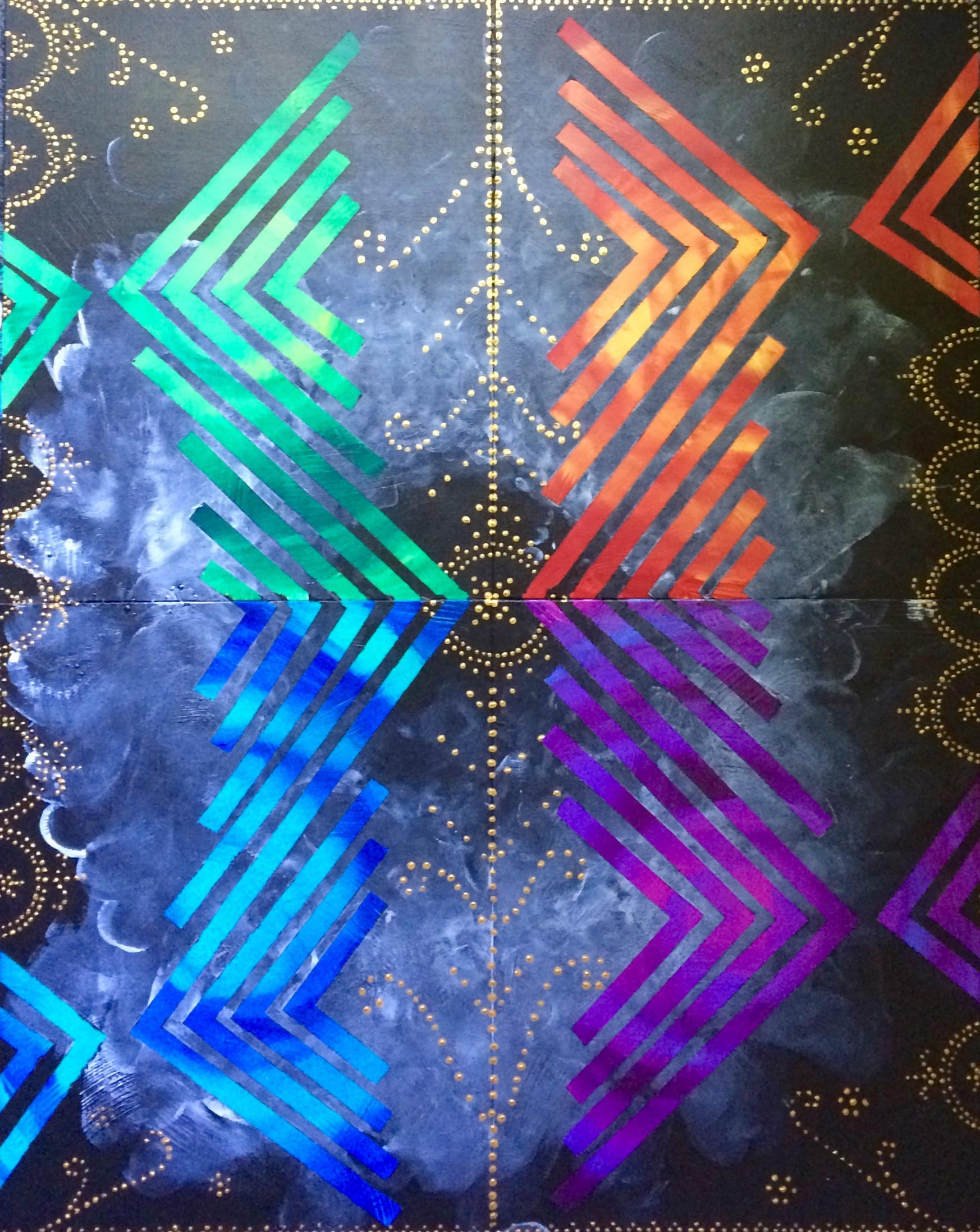 Untitled, acrylic on panels, 2015