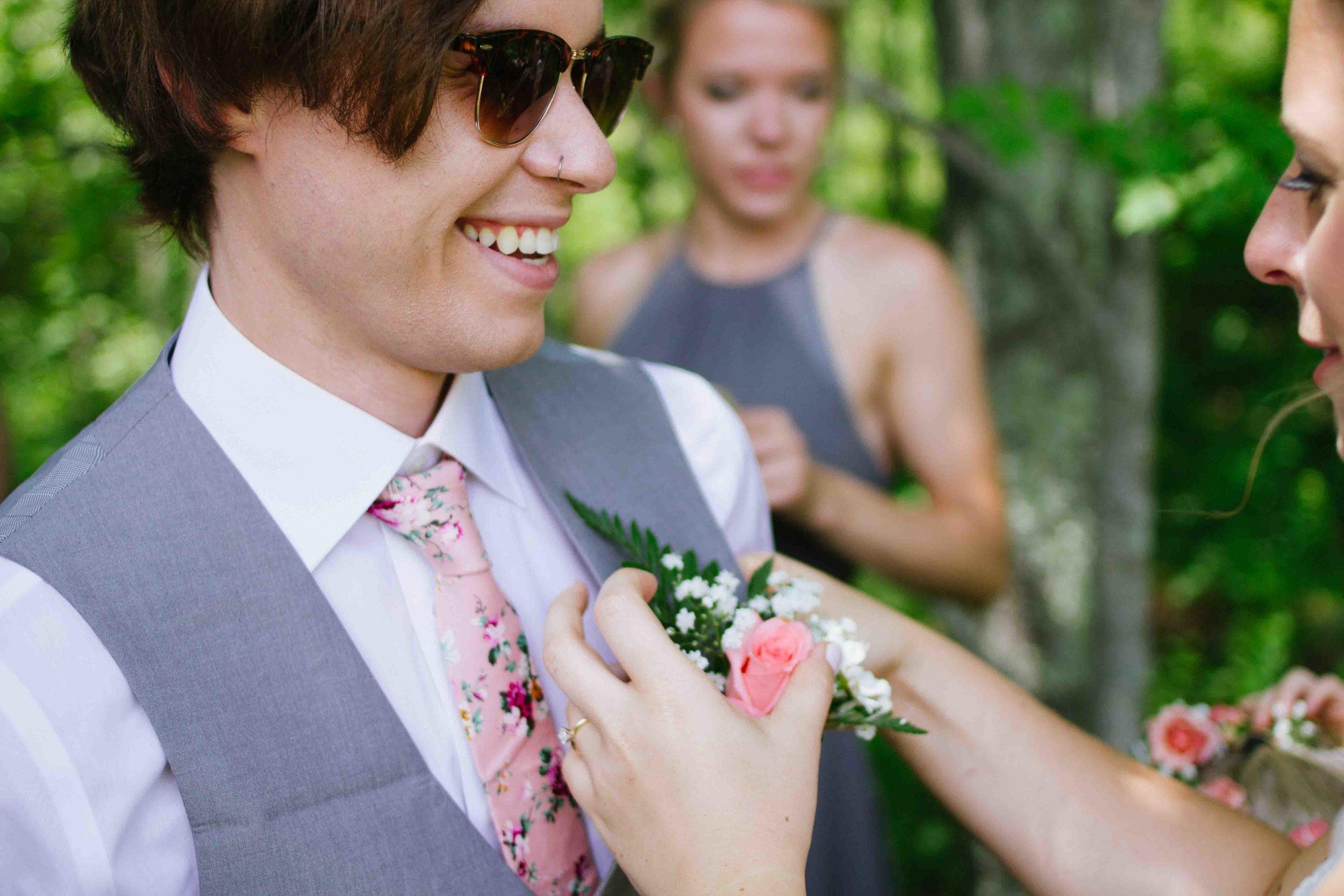 woodsy wisconsin wedding burlap and bells black river falls