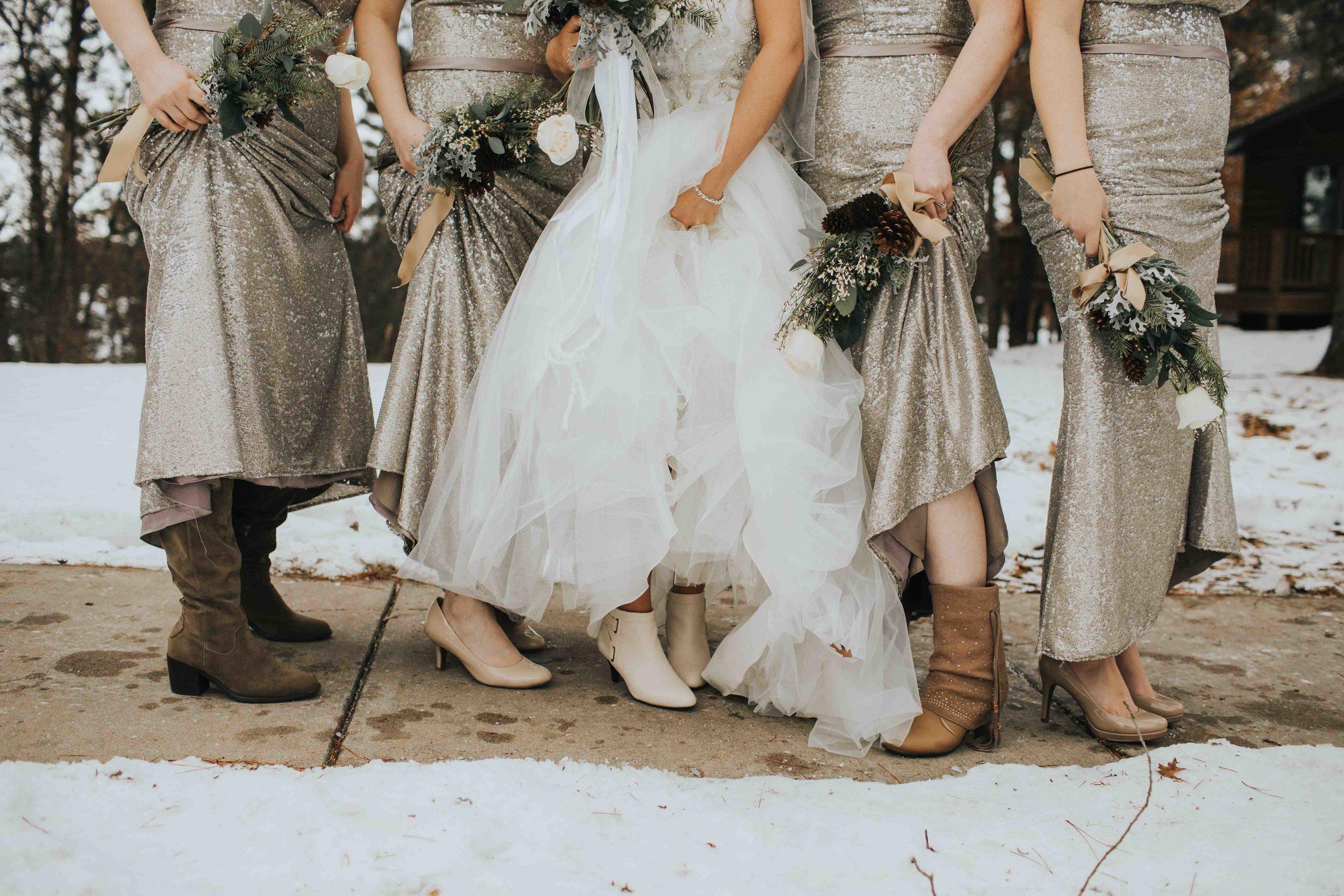winter wedding y camp wisconsin rapids
