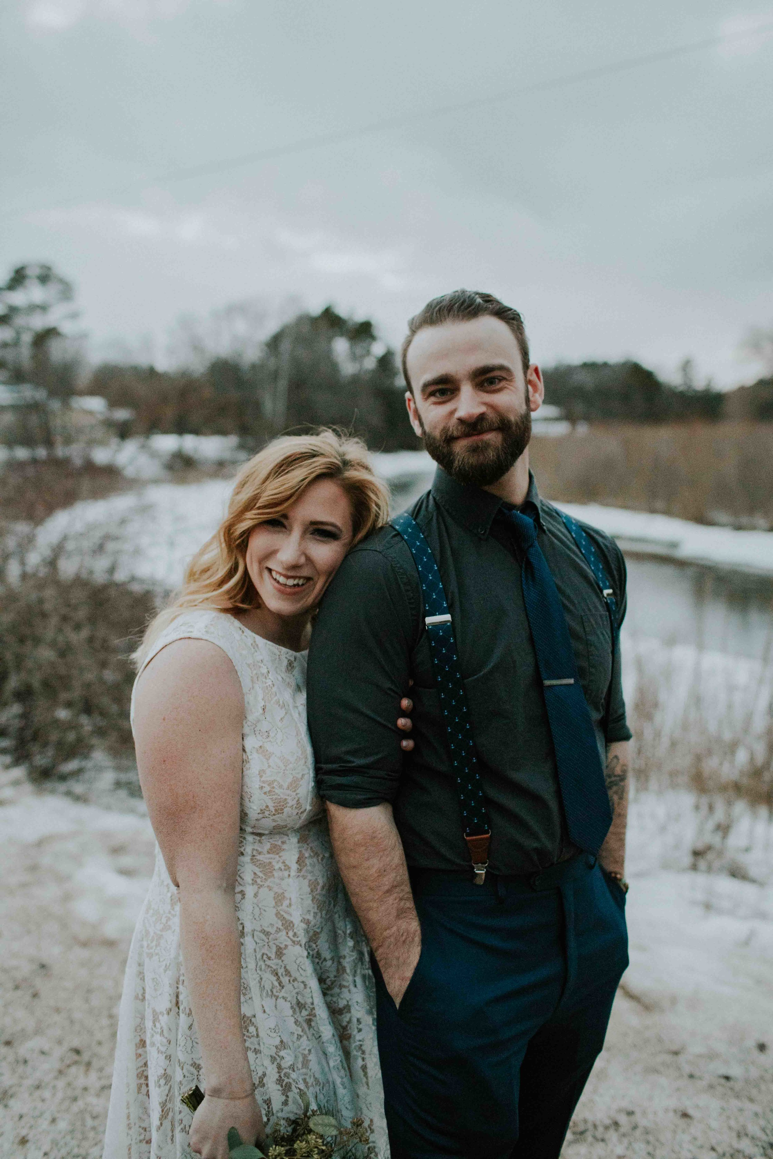 winter wisconsin elopement the red mill wedding photographer