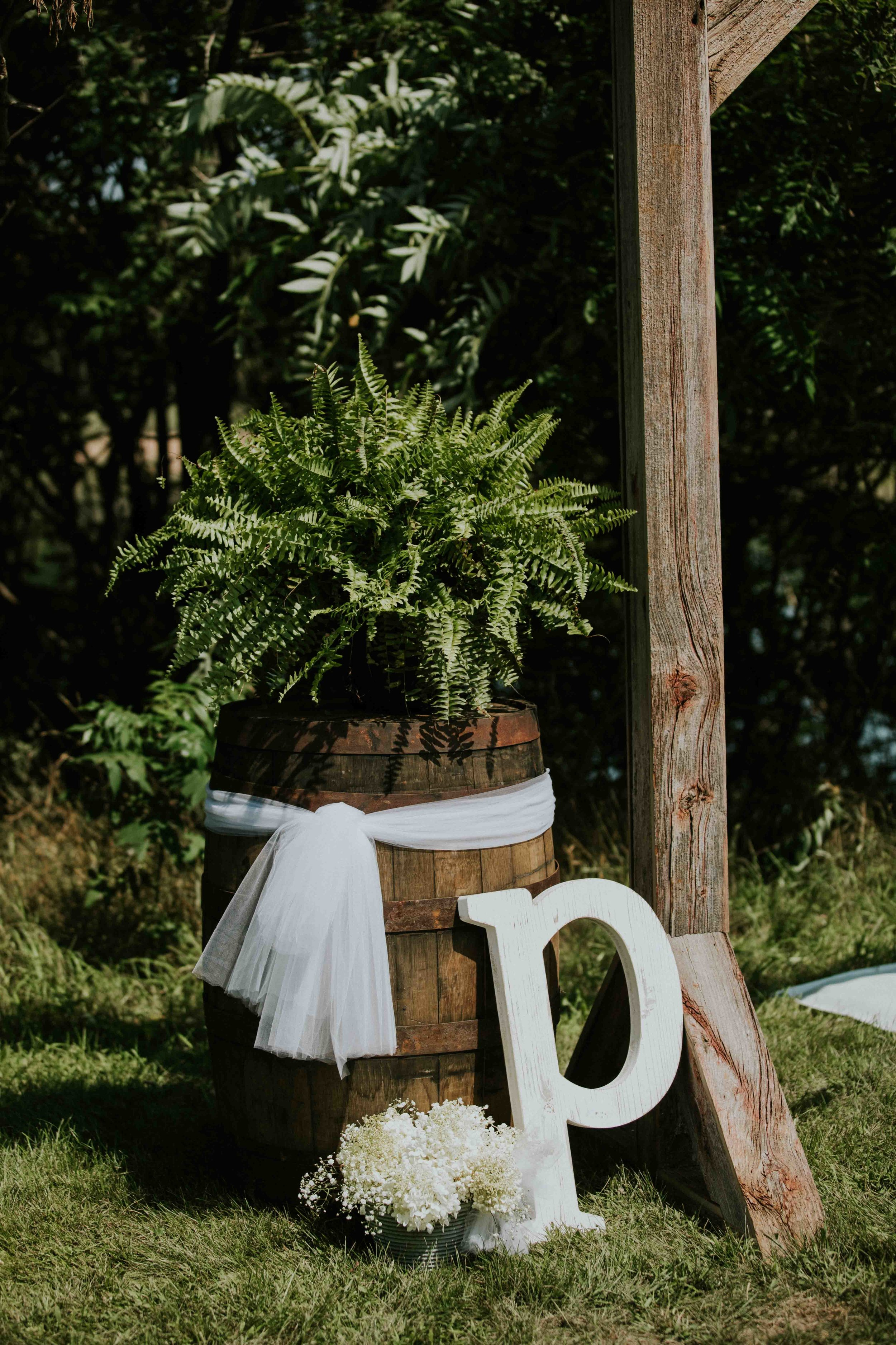 rustic outdoor wedding grand rapids lions club wisconsin