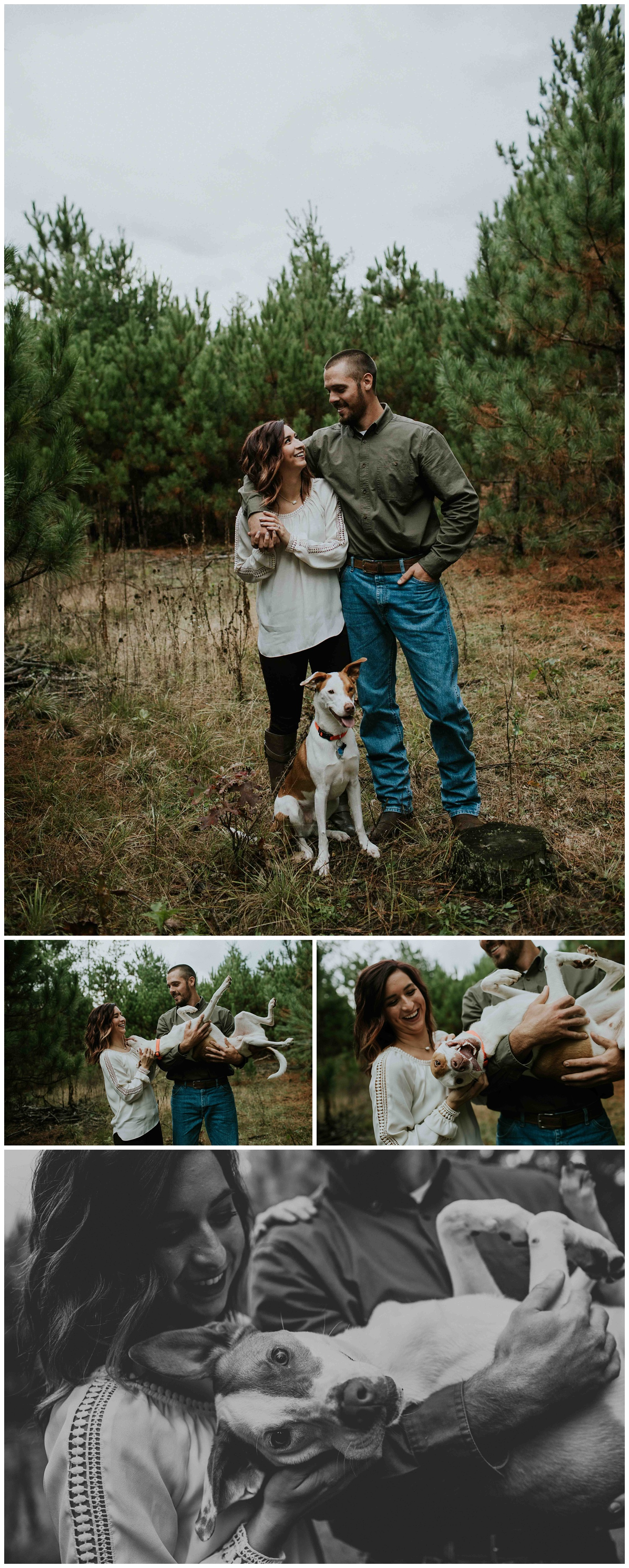 rainy day dog engagement session chloe ann photography madison wedding photographer