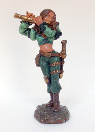 Anwyn - Reaper Miniatures - my first painted mini - October 2011