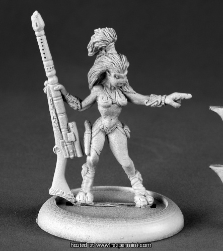 50136: Female Andromedan Hunter ($5.99) Sculpted by Patrick Keith