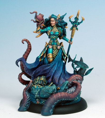 Image from  Dark Sword Miniatures - Guardian of the Sea  sculpted by Jeff Grace & painted by Marike Reimer