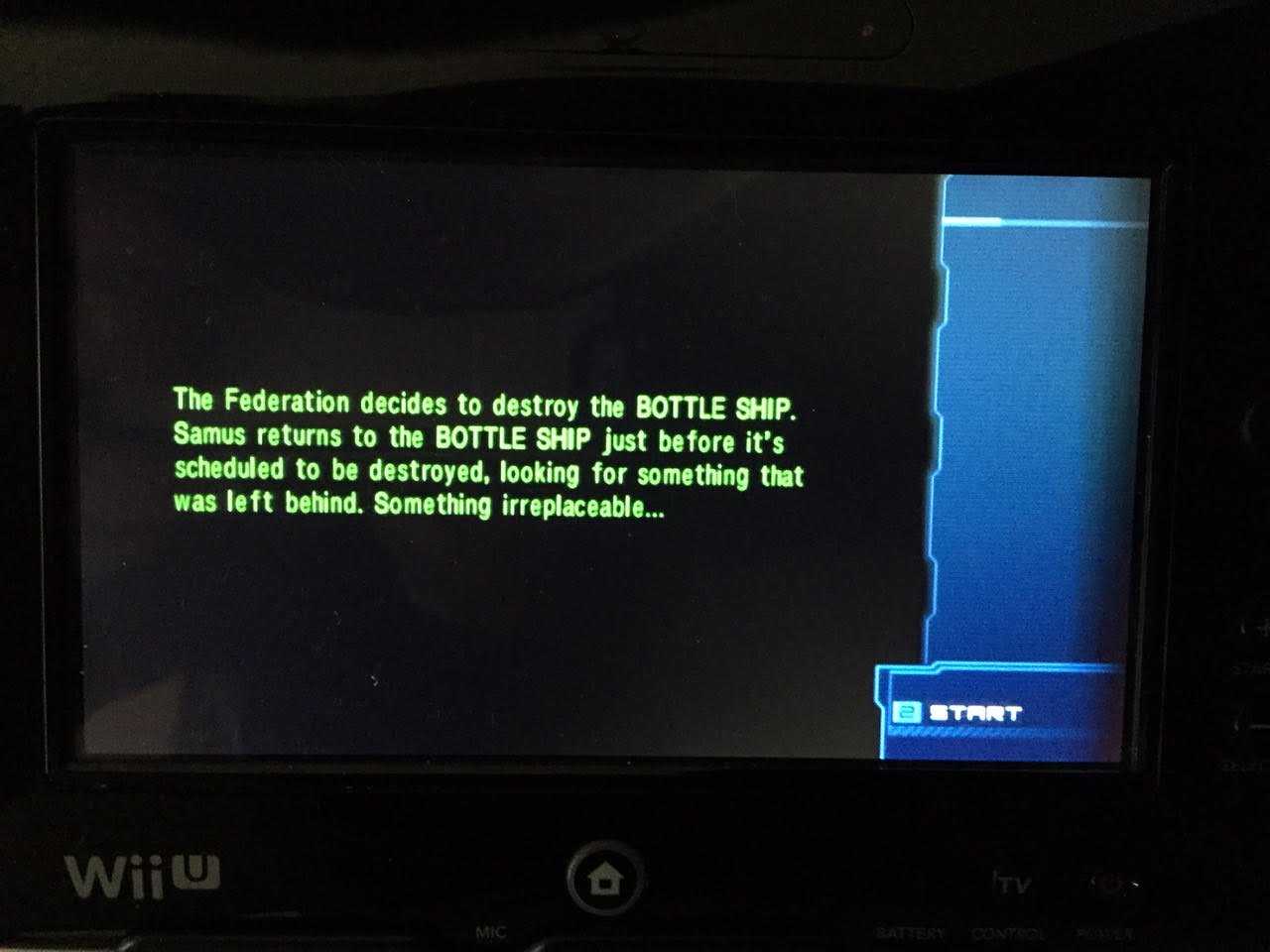 Metroid: Other M  helpfully catches you up on the latest story details whenever you boot up a saved game.