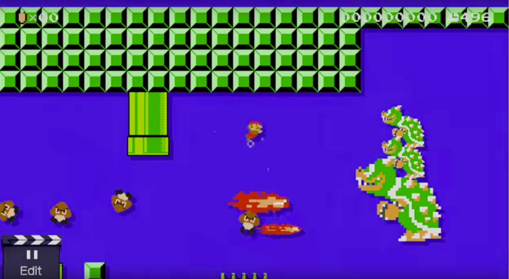 Remember those underwater triple Bowsers from the NES days? No? Me either. SMM revels in the absurd.