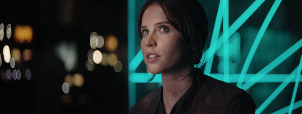 Jyn Eros, as portrayed by Felicity Jones, the star of the new  Star Wars .