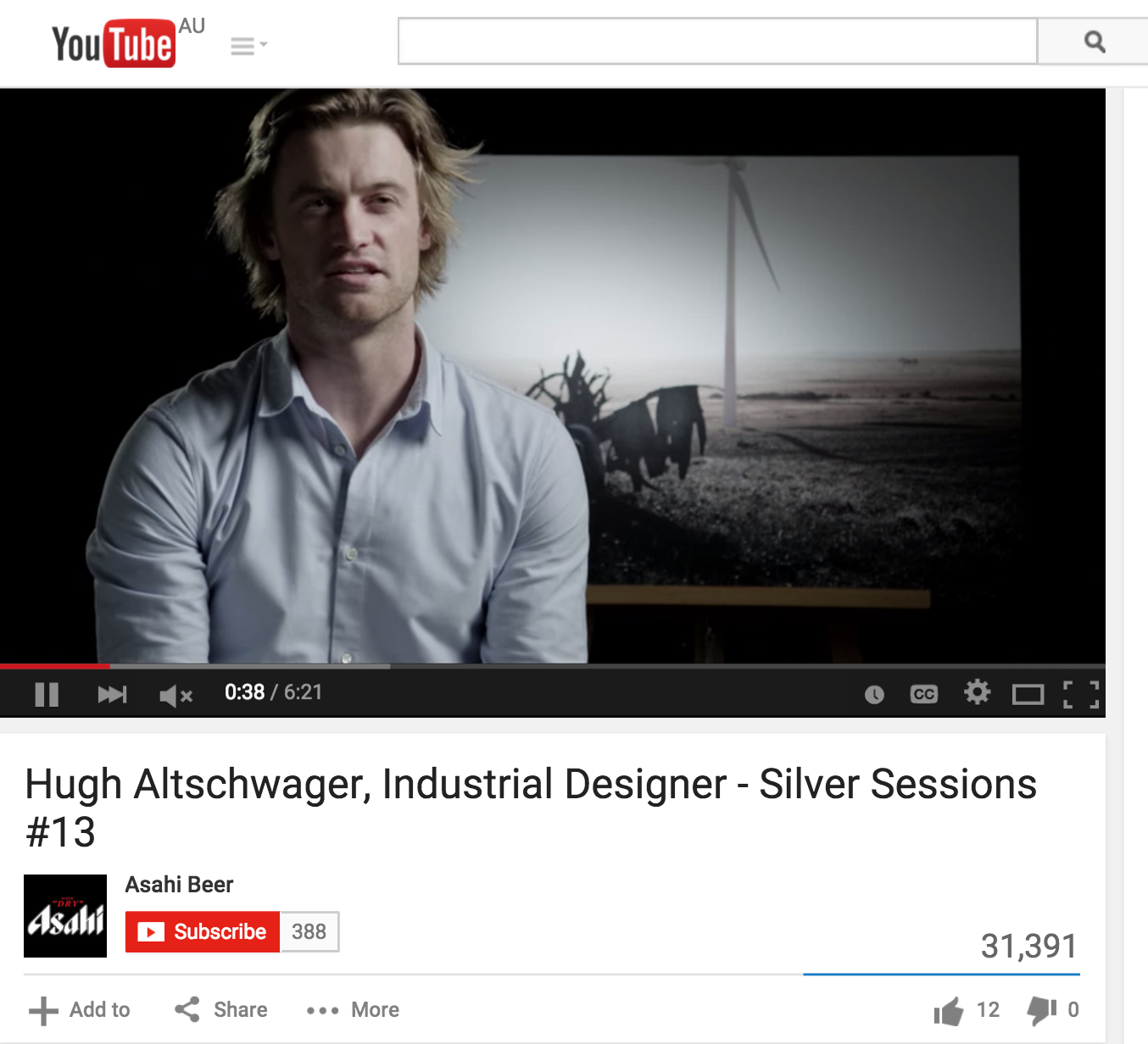 September 2014 | Asahi Silver Sessions | Video Interview