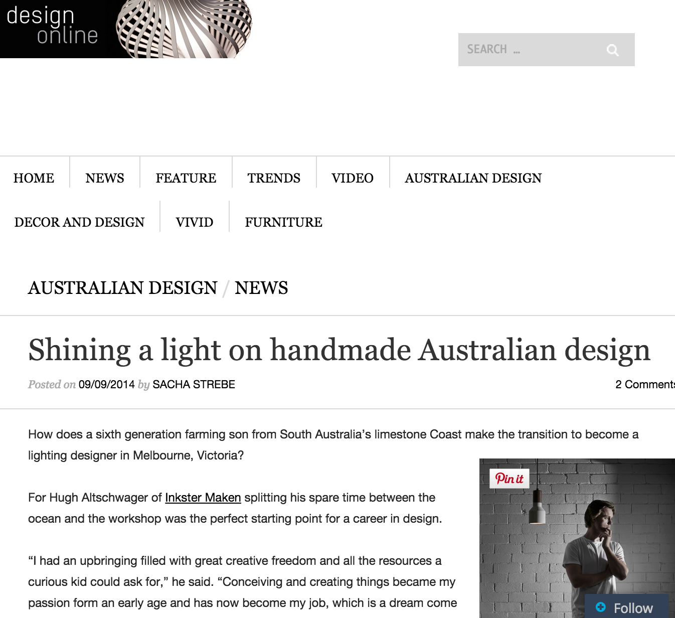 September 2014 | Decor Design | Online Interview