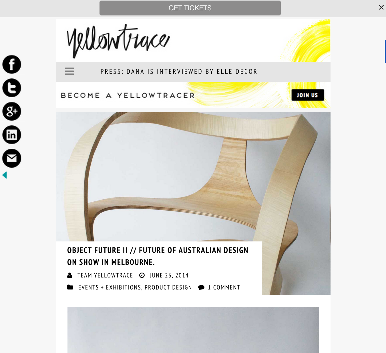 June 2014 | Yellowtrace | Object Future II Exhibition
