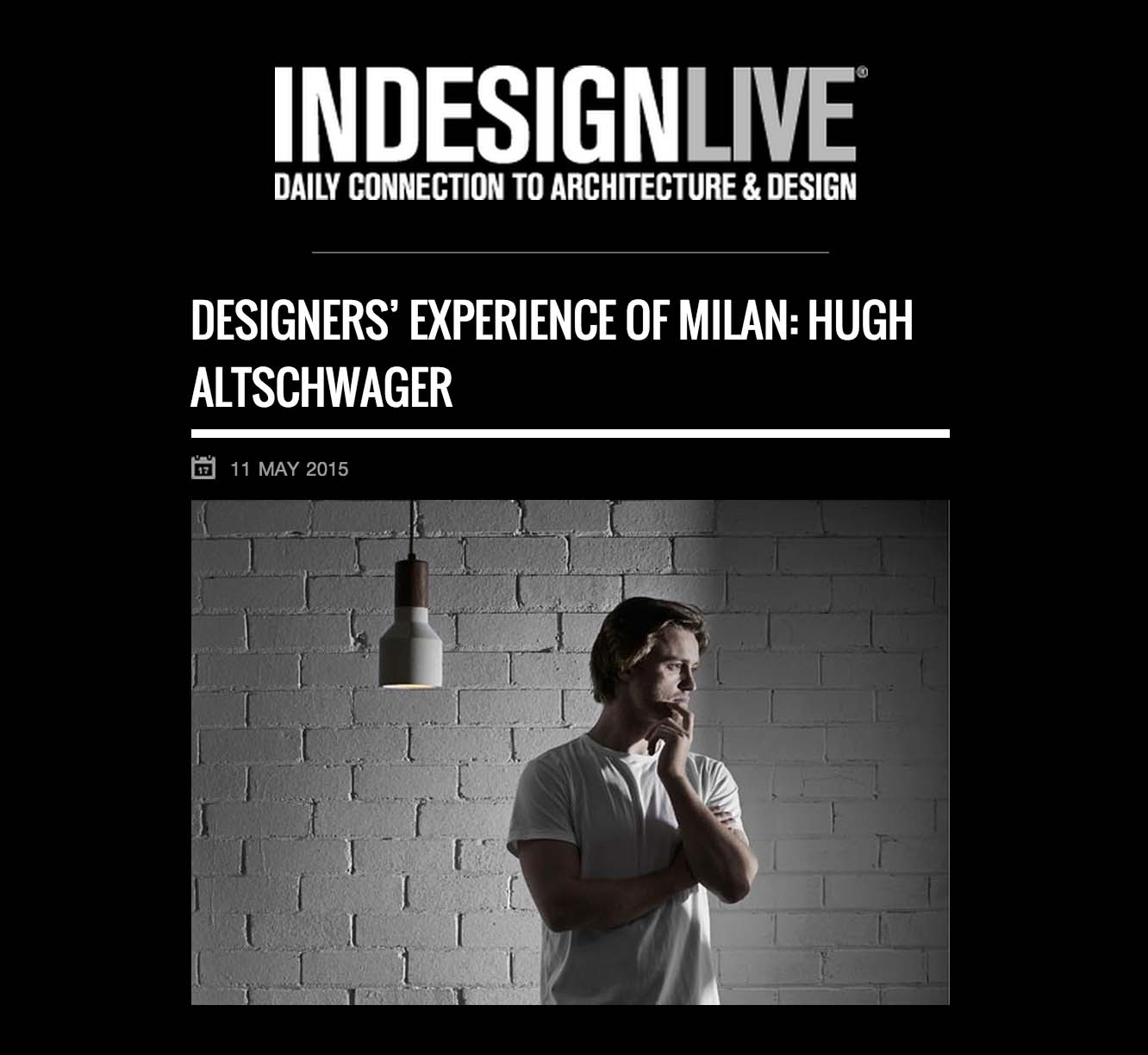 May 2015 | Indesign Live | The Milan Review | Online Interview