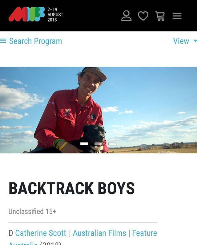 Don't miss this wonderful doc Backtrack Boys screening at festivals across Australia and @melbfilmfest this Saturday! #miff2018