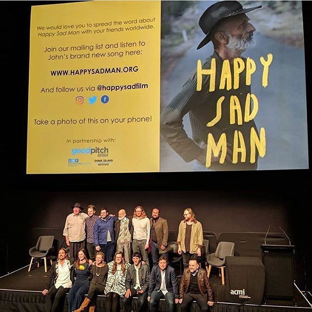Our new film was born, and words cannot describe the feeling in the room! Thanks to everyone who made Happy Sad Man what it is, especially my men. Can't wait to screen again tonight at @melbfilmfest  If you would like to see it in your city please message us ❤️ #happysadman