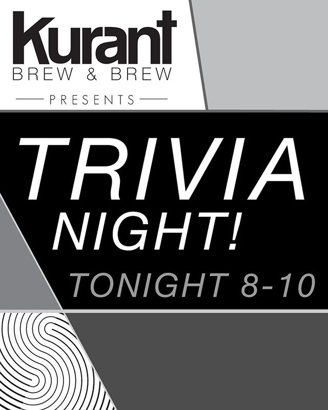🚨 TRIVIA TONIGHT 🚨 _ We've got trivia tonight from 8-10! Bring your smart friends or bring your dumb friends and rub it in their face how smart you are! Either way, come test your knowledge against other gladiators of useless facts. Join us every 2nd and 4th Thursdays of the month for Trivia!