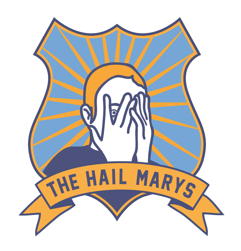 The Saint Hail Mary's  part of a series of mock-college logos for Varsity jackets.