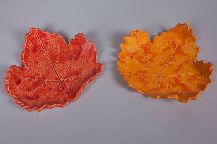 Red & Orange Grape Leaves