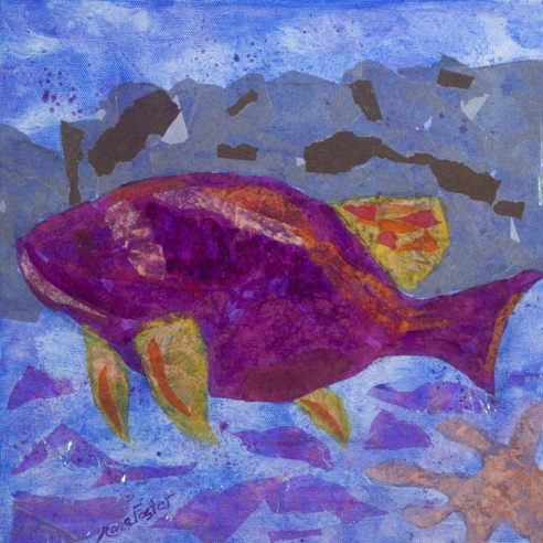 Purple & Orange Fish