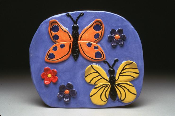 Butterfly & Flower Tile