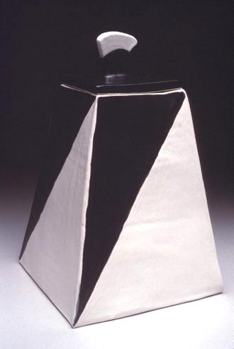 Black & White Lidded Vessel