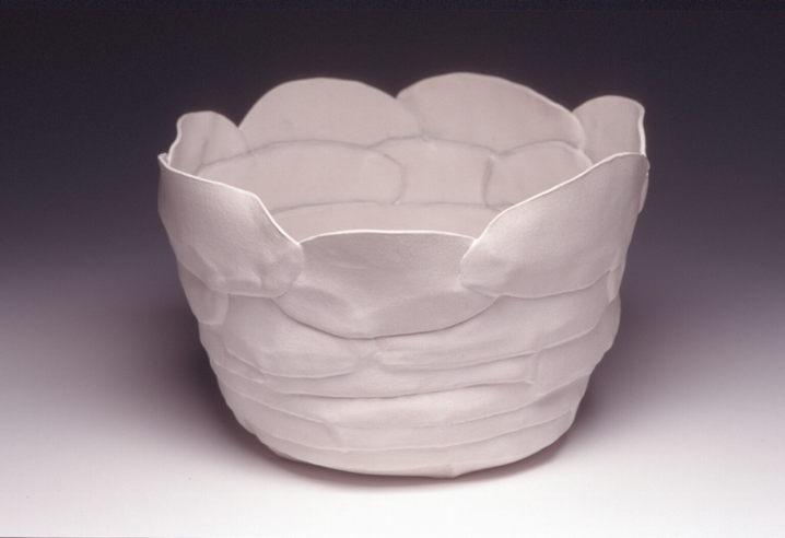 White Petal Pot