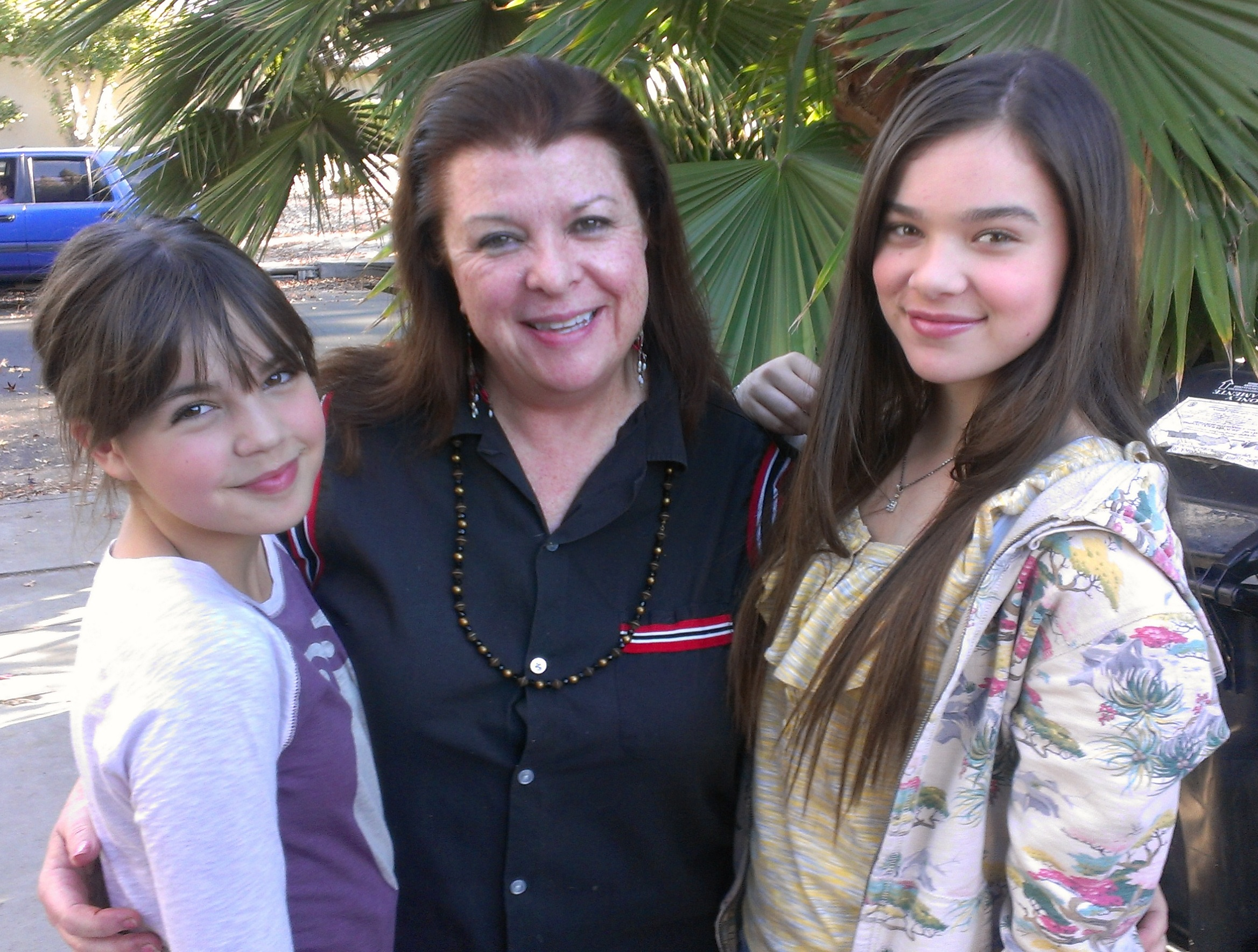 On location with Bailee Madison and Hailey Steinfeld