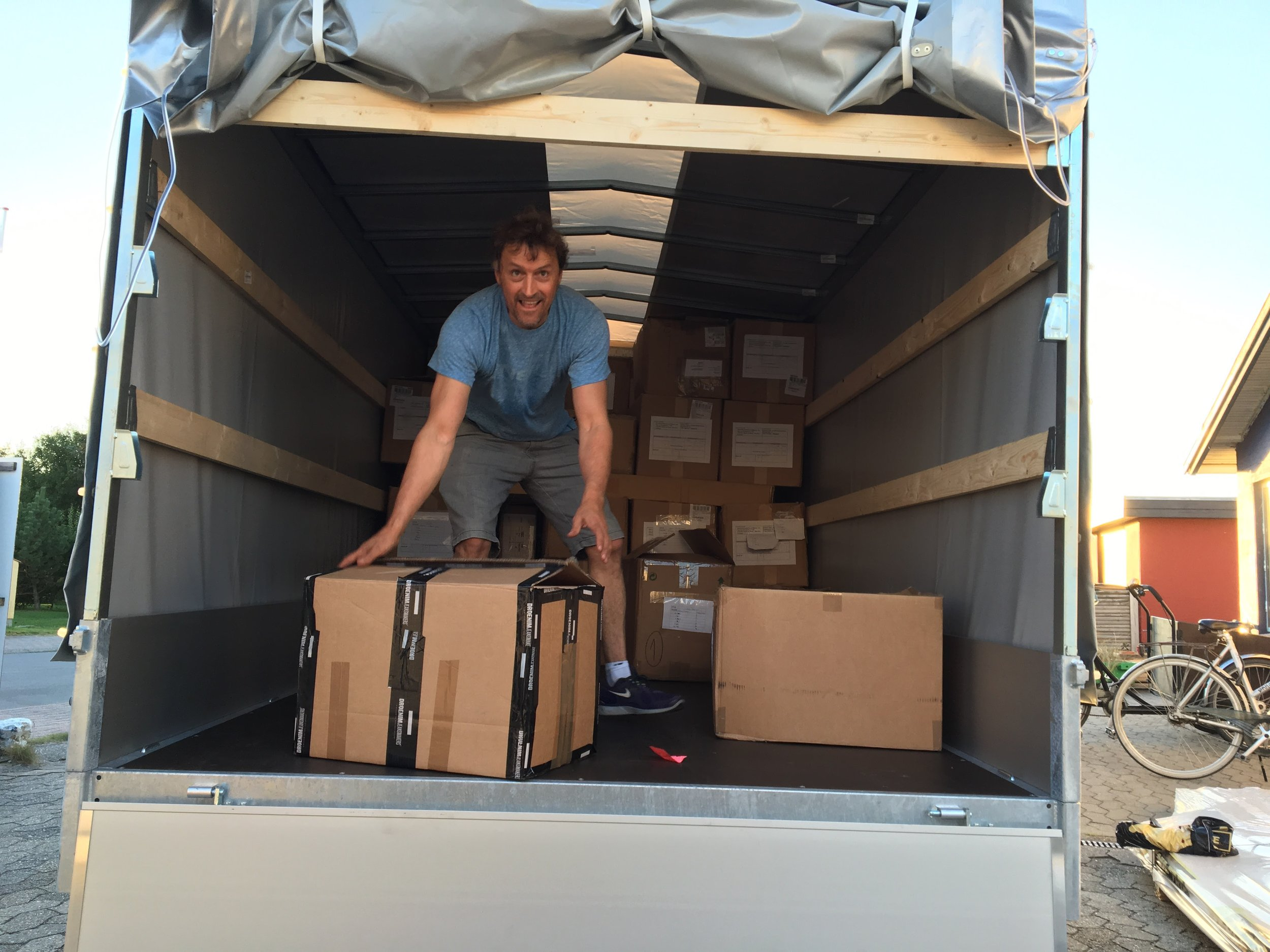 Our good friend, Mathias Nielsen, helped us move everything from the back of the building.