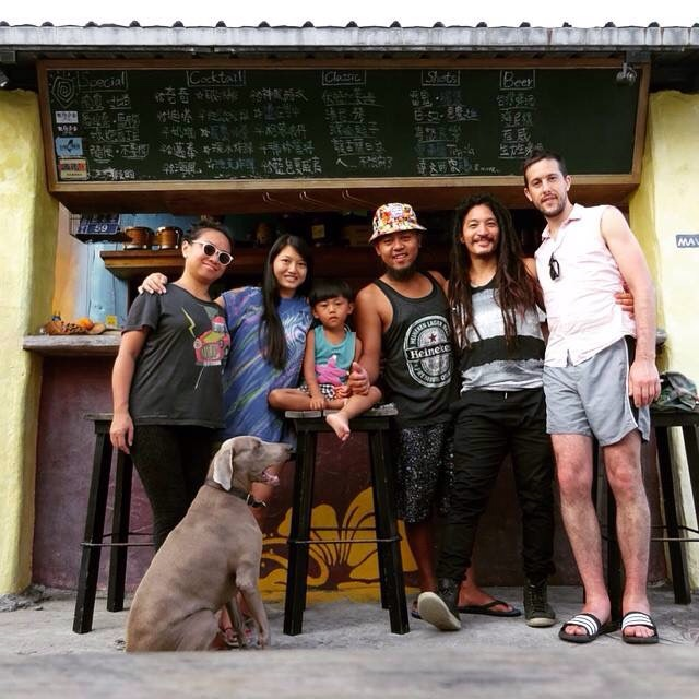 With a few of our favorite friends on the Island - A Wei, Emily, A Jue. Down in Kenting.
