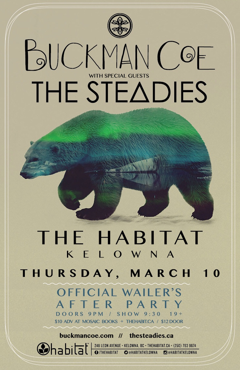 Very Excited to announce our first show with the Steadies back in Kelowna!!!