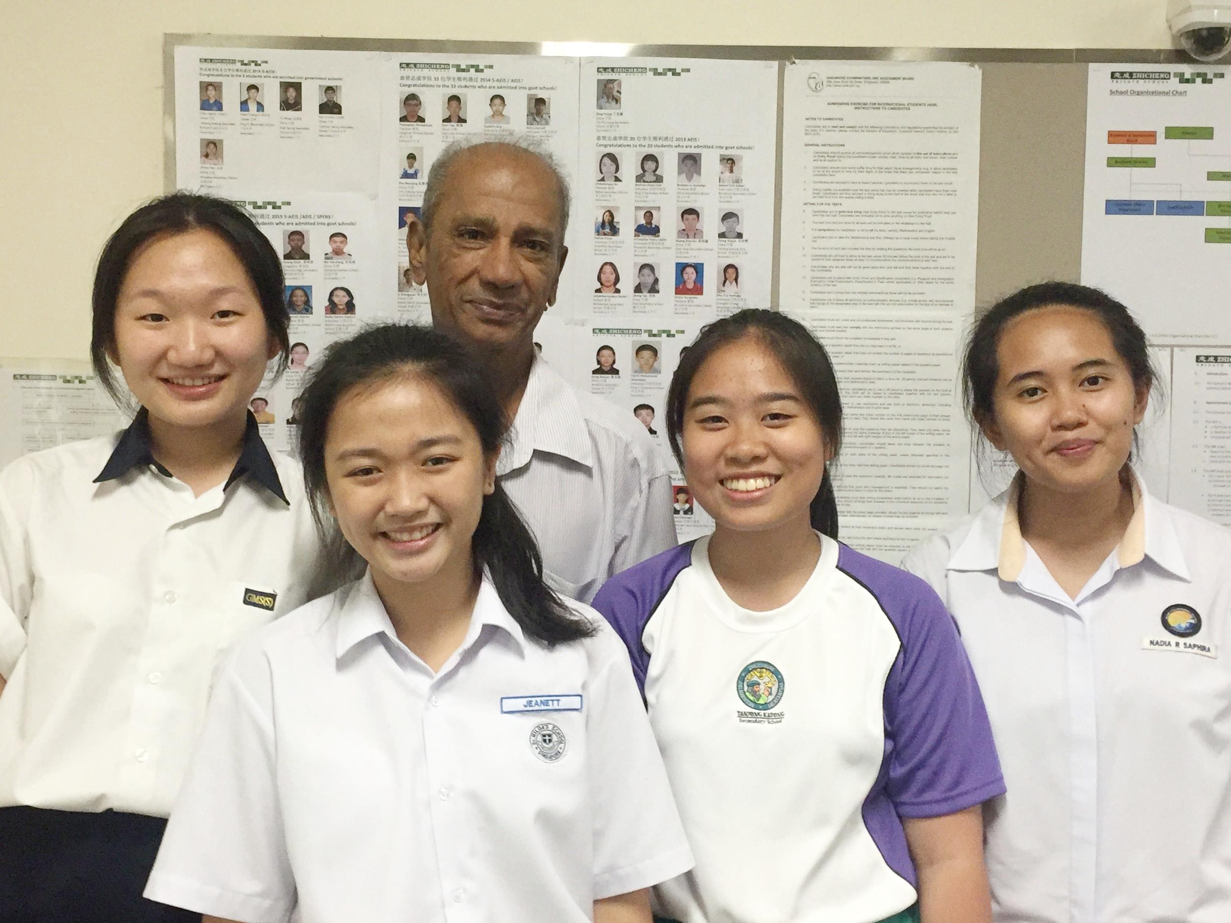 Ex-students with Mr Gasper.JPG