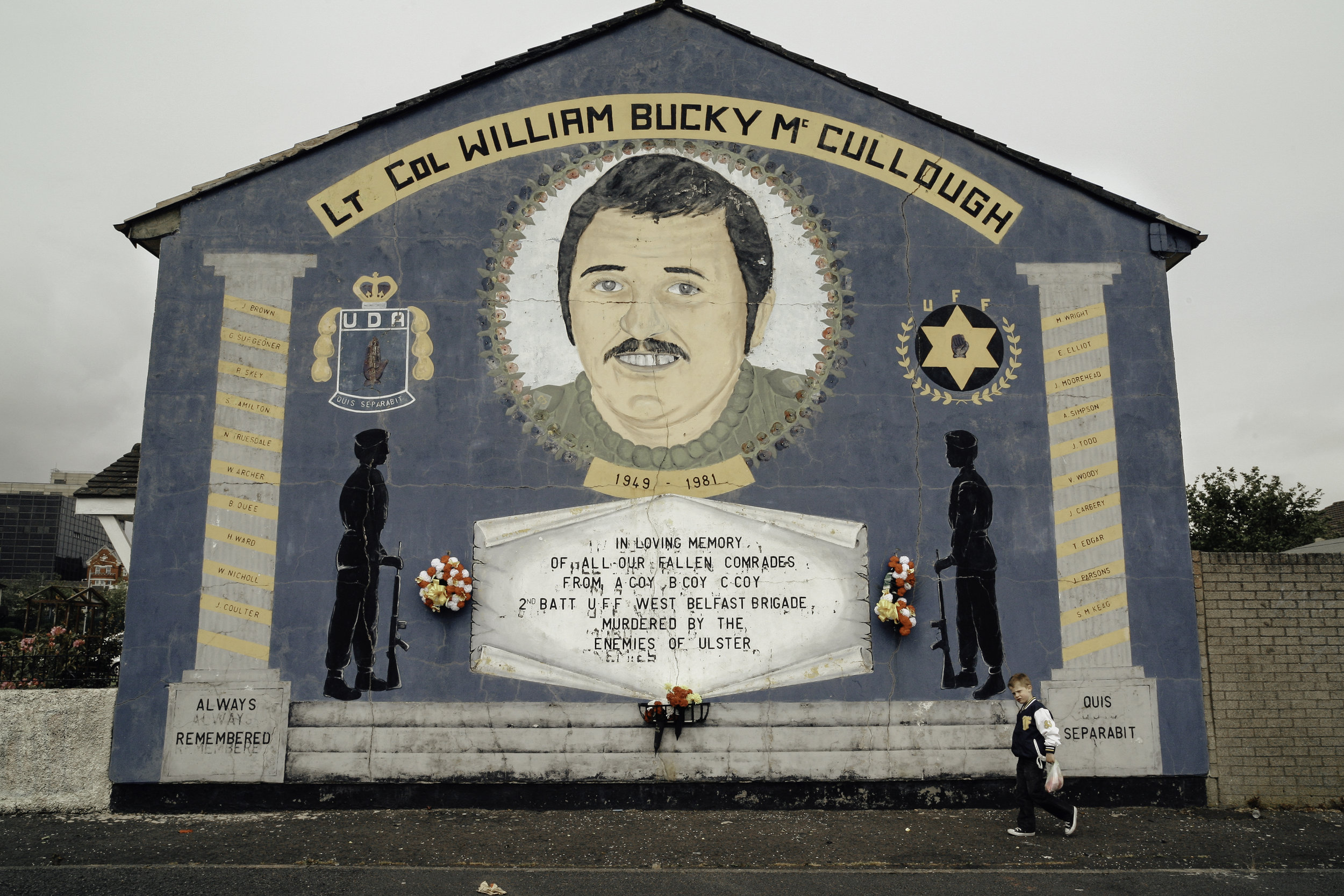 Alan McCullough (July 1981 – 28 May 2003) was a leading Northern Irish loyalist and a member of the Ulster Defence Association (UDA). He served as the organization's military commander for the West Belfast Brigade's notorious C Company which was then headed by Johnny Adair.  McCullough was suspected of having organized the killing of South East Antrim brigadier John Gregg in February 2003. Gregg was a rival of Adair's who enjoyed popularity among loyalists on account of his attempted assassination of Sinn Féin president Gerry Adams in 1984. The killing provoked outrage amongst the other UDA leaders and as a result of Adair and his associates, including McCullough, were forced to leave Northern Ireland. McCullough returned to Belfast in April 2003 but a month later he disappeared from his home in the company of two men. On 5 June his body was found in a shallow grave in Mallusk. The UDA claimed responsibility for the killing using their cover name Ulster Freedom Fighters (UFF).