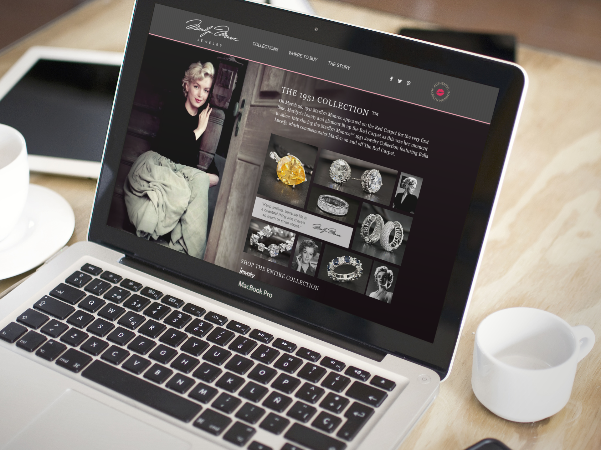 Mairilyn Monroe Jewelry Website    Services provided: Creative Direction, Photography Art Direction, Website Design, Front-end Development, UI/UX Design