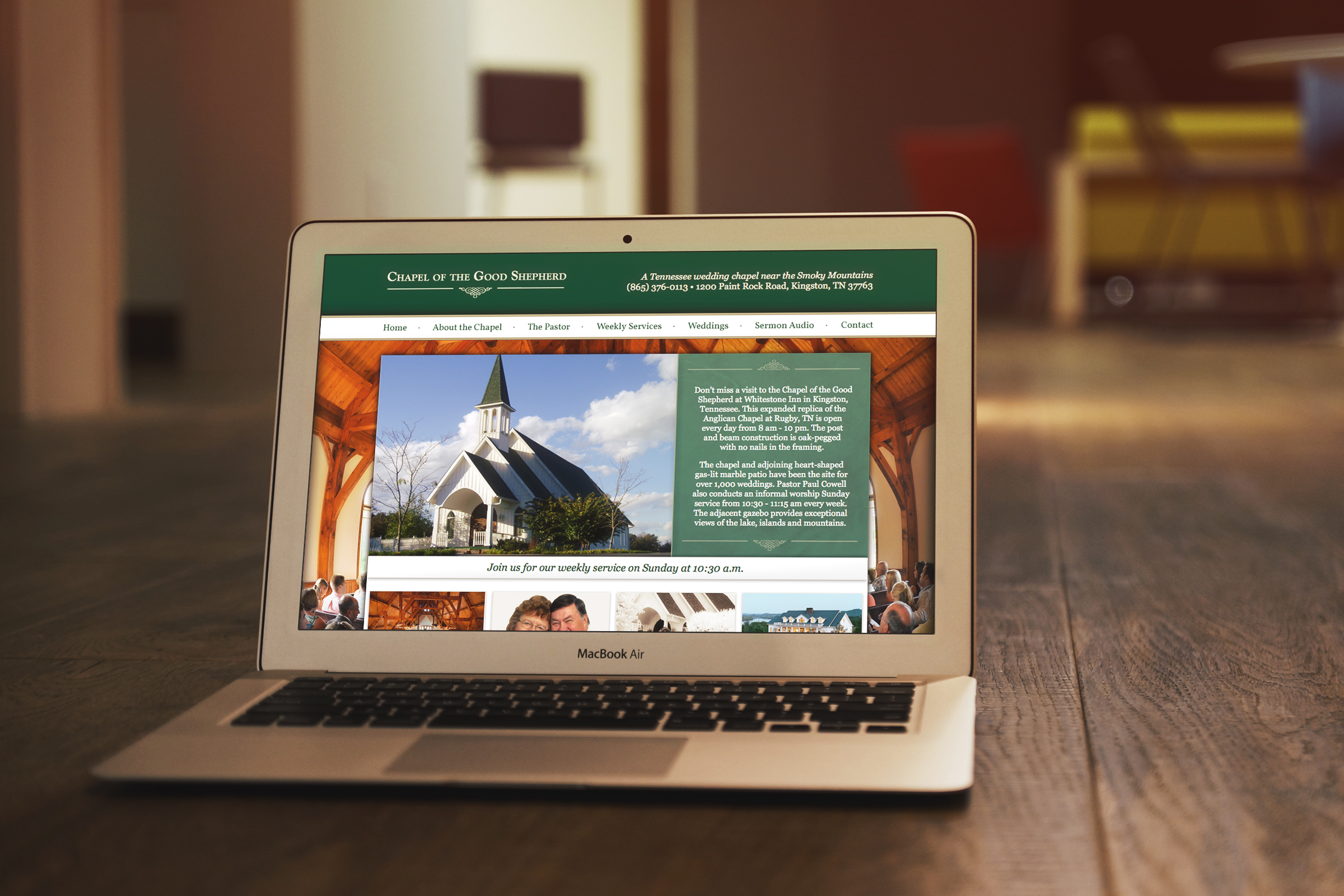 Whitestone Inn: Chapel of the Good Shepherd Website    Services provided: Website Design & Development, Custom ExpressionEngine Integration,Search Engine Optimization    Visit Site