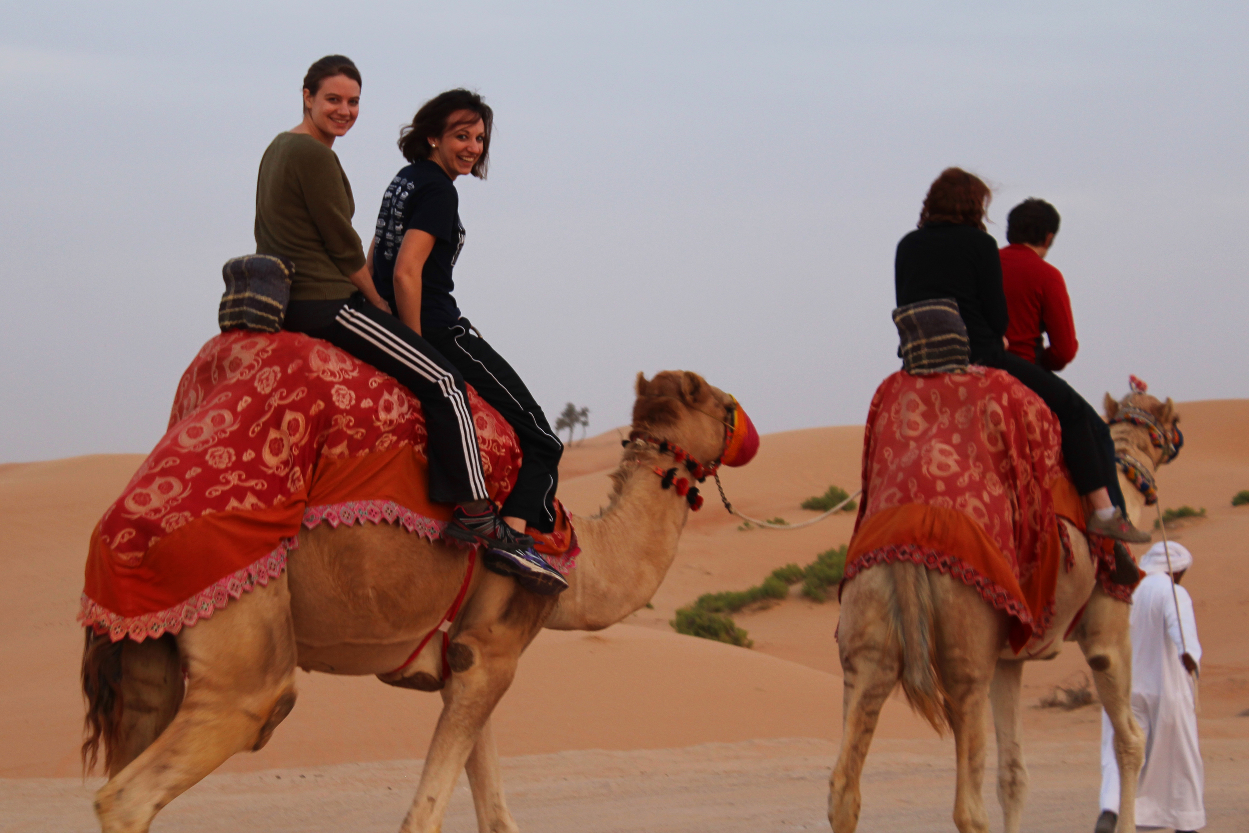 Riding a camel in the Arabian desert is about as uncomfortable as it looks. Bucket list: Check.