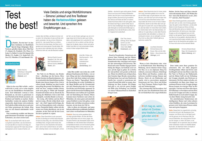 Buchmarkt Spezial, September 2014 - (einfach auf das Bild klicken, um es zu vergrößern)