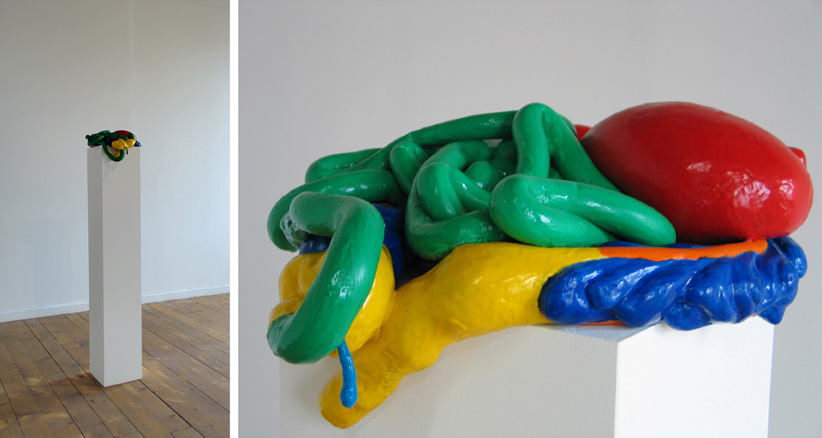 The Guts , Silicone, MDF, Plinth, Dimensions Variable, 2007