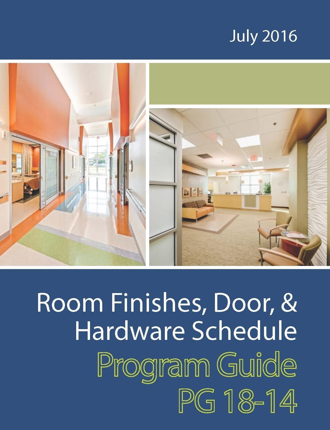 Room Finishes, Door, & Hardware Schedule Program Guide