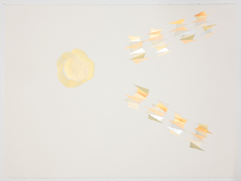Meteor, v. 1  Acrylic on card stock on Arches paper 22 x 30 inches 2013