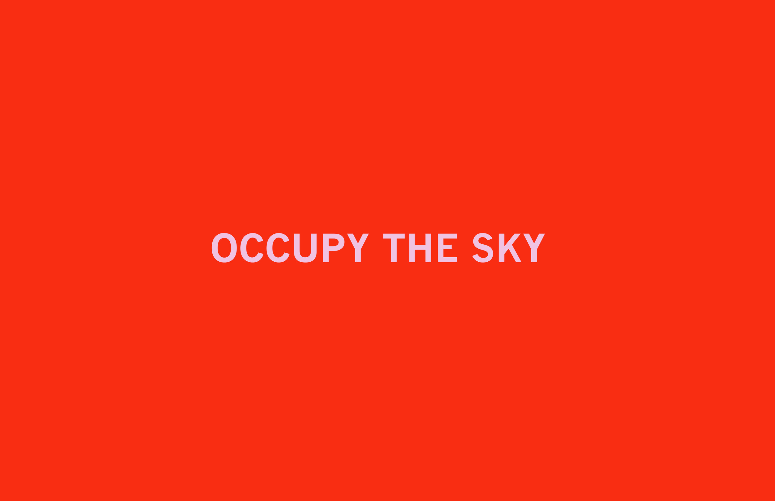 Occupy The Sky  Archival inkjet print 19 x 26 inches 2011