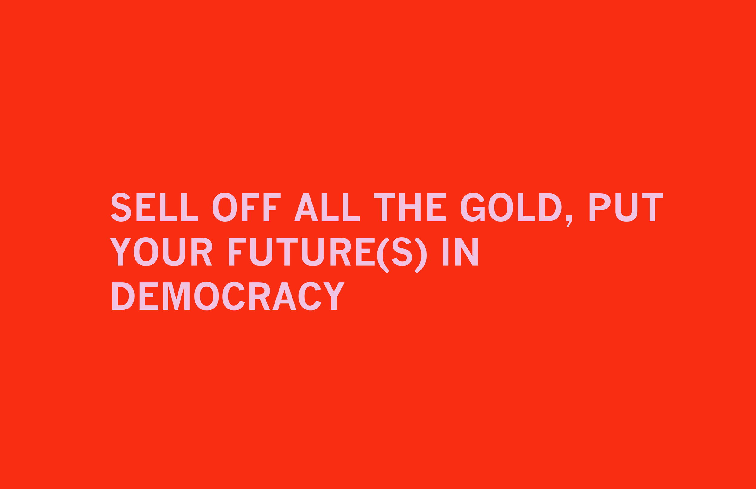 Democracy, v. 2  Archival inkjet print 19 x 26 inches 2011
