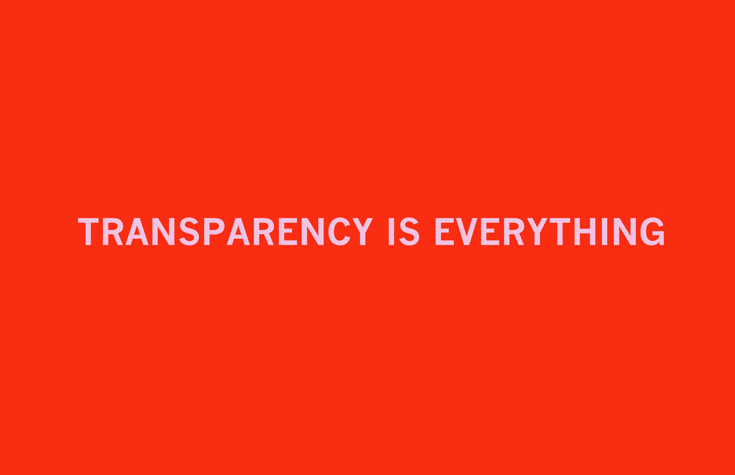Transparency Is Everything  Archival inkjet print 19 x 26 inches 2011