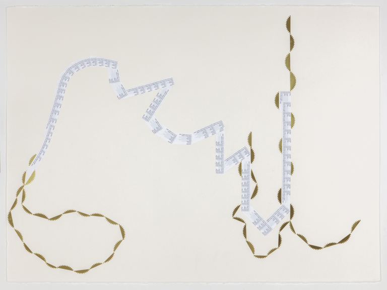 hors champ, v. 3  Slide labels and notary stickers on Arches paper 22 x 30 inches 2012
