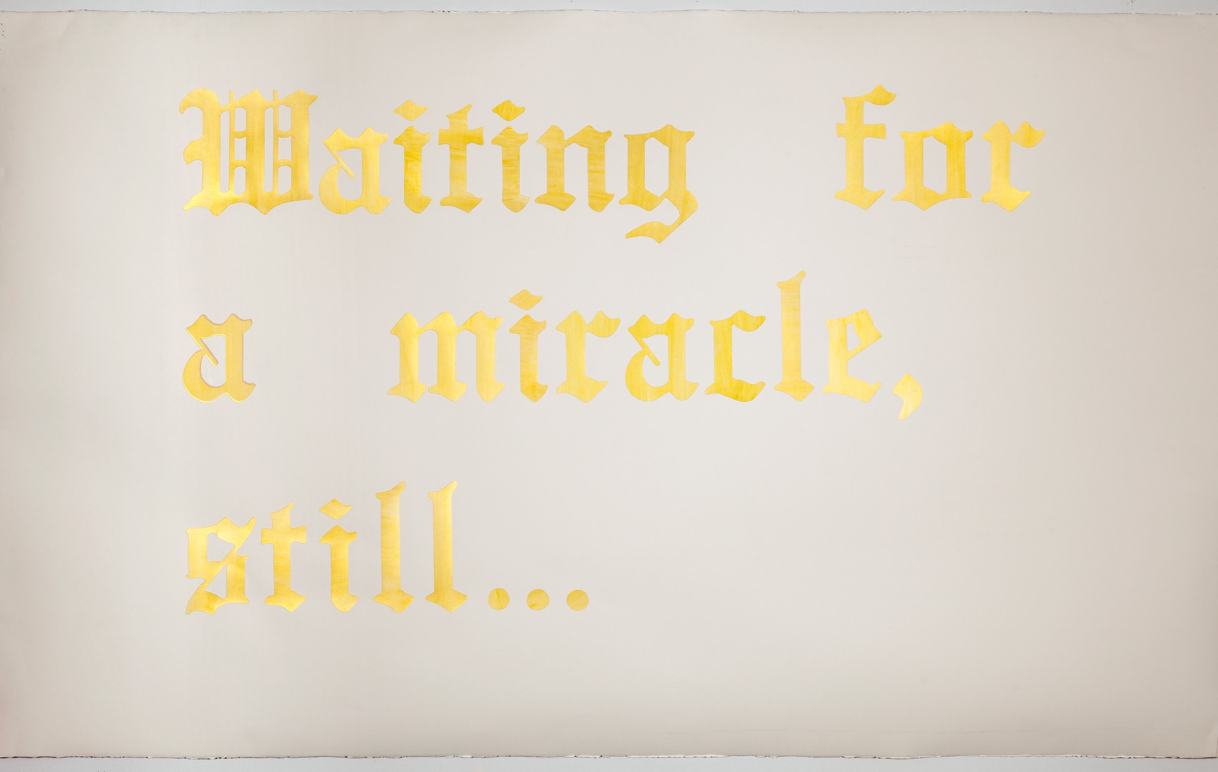 Headline, v. 1 (New Orleans) Acrylic on watercolor paper on Arches paper 51 x 90 inches 2014