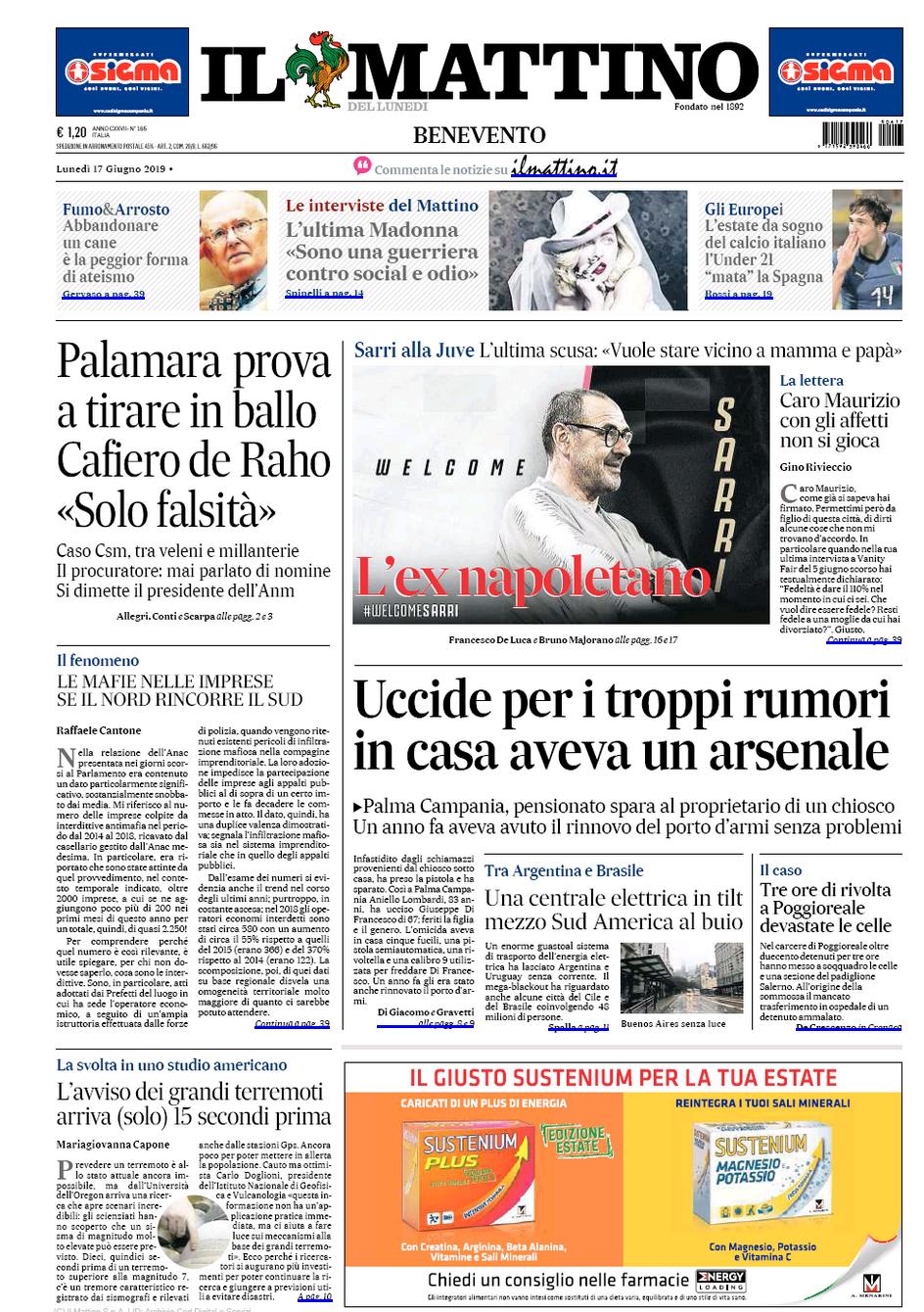 IlMattinoNapoli_FrontPage_061719.png