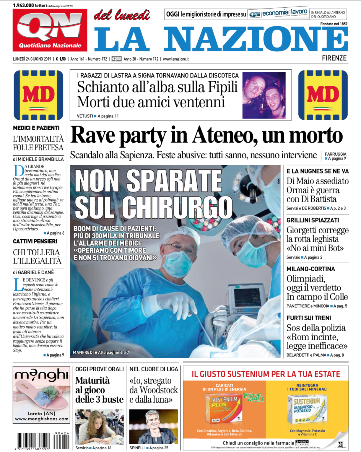 LaNazioneFirenze_FrontPage_062419.png