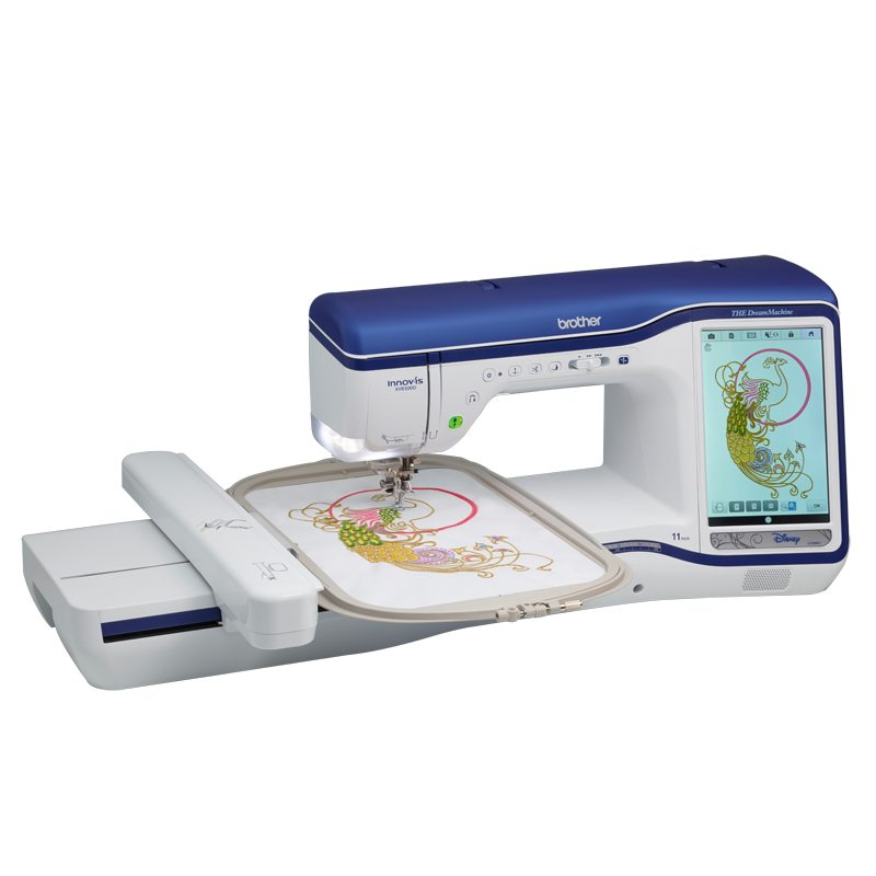 Brother dream Machine 1  * 40 built-in tutorials  * sew straight 2 laser vision guide  * lie art scan and embroider  * 939 built-in embroidery designs  * 166 designs featuring Disney/Pixar designs  * 22 embroidery fonts  * 726 built in stitches  * innoveye 2 camera technology  * v-sonic pen pal embroidery for sewing and embroidery