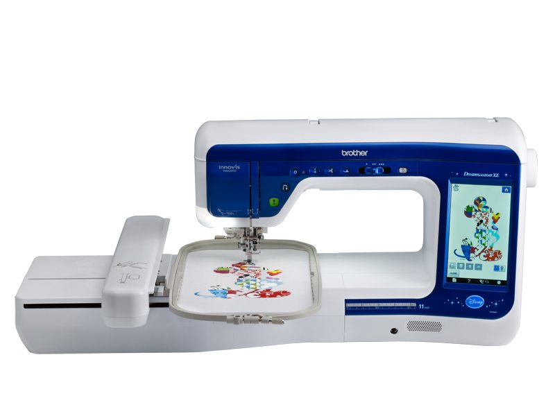 Brother Dreamweaver 6200D  * 561 built-in sewing stitches ( 30 on CD )  * 318 built in embroidery designs 91 designs featuring Disney/pixar  * thread sensors  * computer connectivity with upgrade capabilities  * my custom stitch  * exclusive bag set included  * sew straight laser vision guide