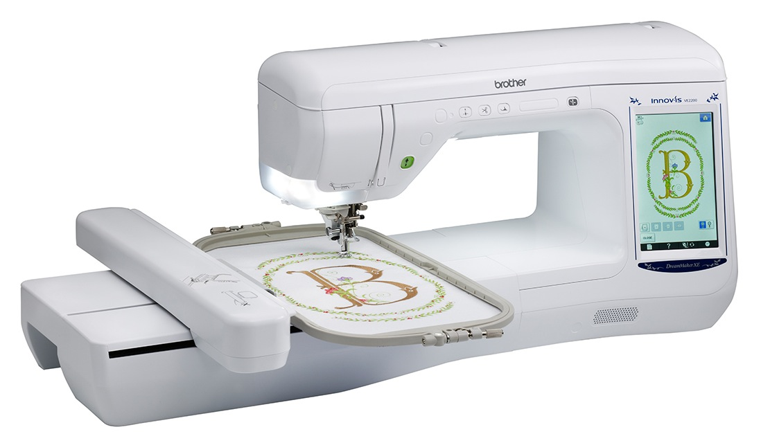 Brother VE2200  * 318 built-in Embroidery designs  * 14 embroidery fonts  * drop light embroidery position marker  * built in uSB ports  * computer connectivity with upgrade capabilities